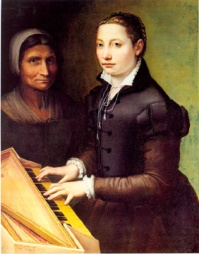 Self-Portrait at the Spinet with Attendant