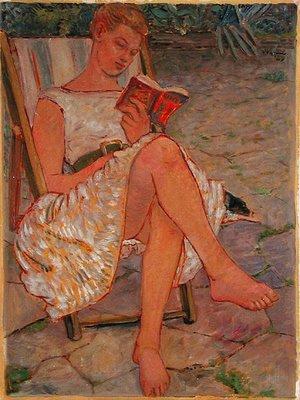 Bridget Reading (1959) by Peter Samuelson